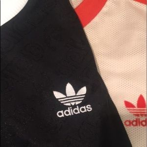 Two adidas t shirts